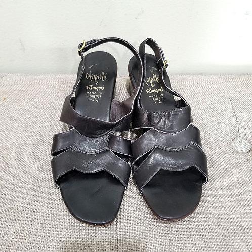Vintage Almalfi by Rangoni Leather Sandals - size 8N