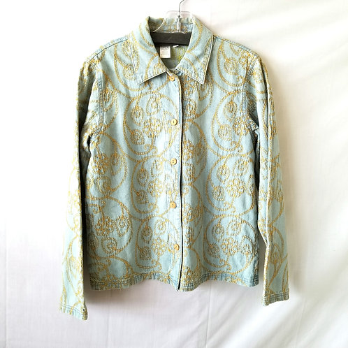 Coldwater Creek Cotton Denim Embroidered Jacket - XS