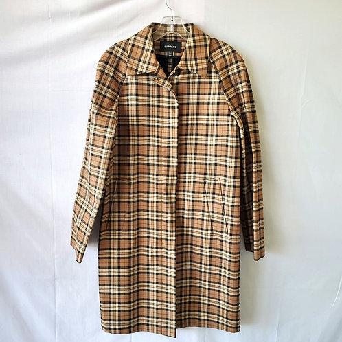 Express Plaid Coat - size 9/10