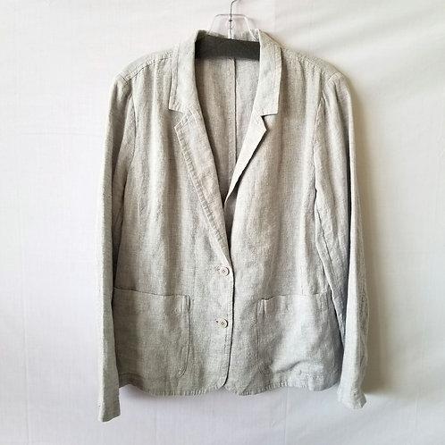 Eileen Fisher Linen & Metallic Blazer - approx S/M