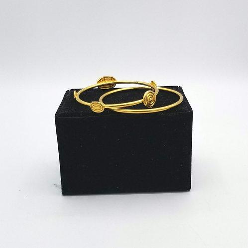 Goldtone Bangle Set