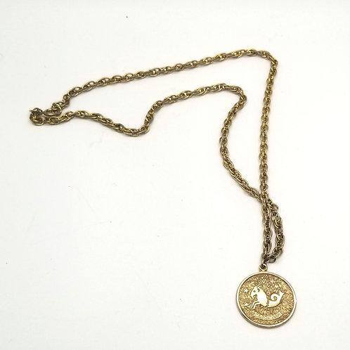 Vintage Sarah Coventry Capricorn Pendant Necklace