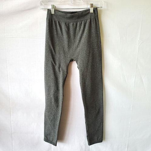 Fleece Lined Gray Leggings - S/M