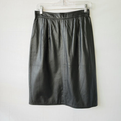 I B Diffusion Black Leather Pencil Skirt - size 12