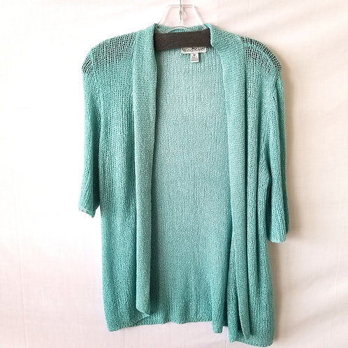 Wind River Seafoam Open Knit Sweater - M