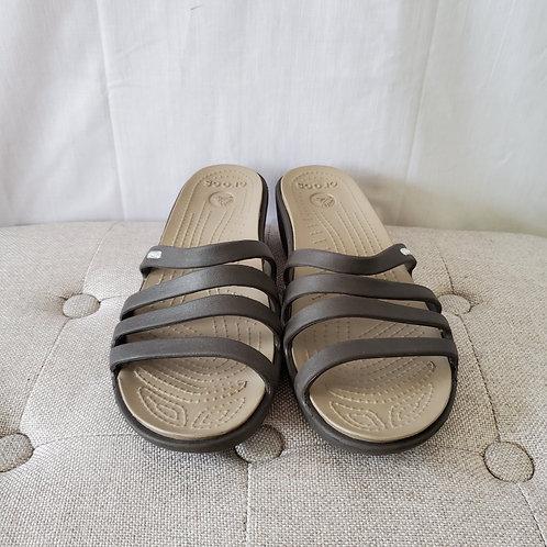 Crocs Slides with Wedge Heel - size 10