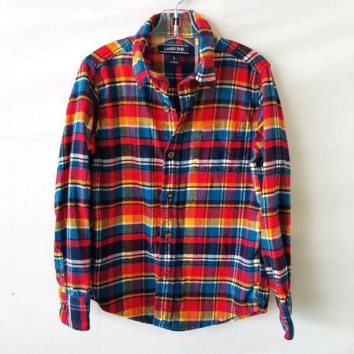Land End's Plaid Flannel Shirt - size L/7