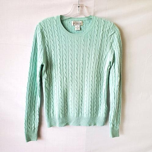 Sutton Studio Cable Knit Cashmere Sweater - M