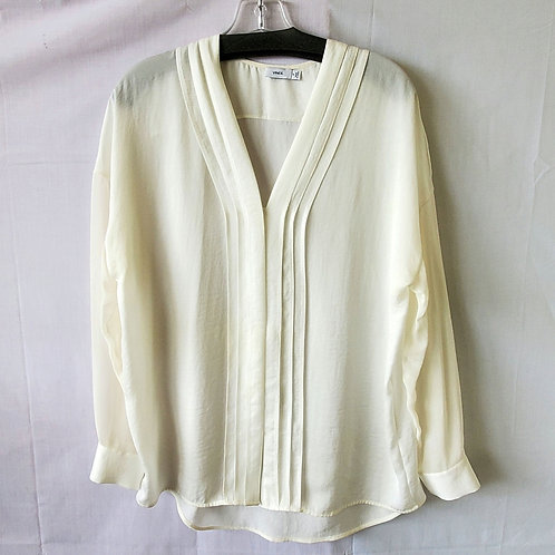 Vince Silky Shirt with Pleats - size 10