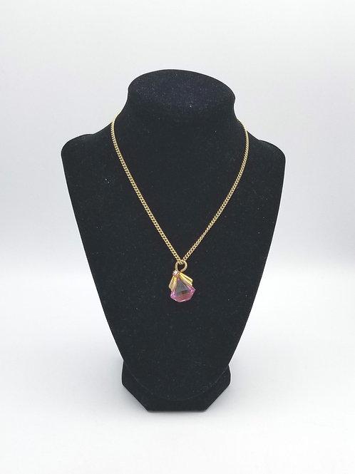 Vintage Pink & Goldtone Necklace