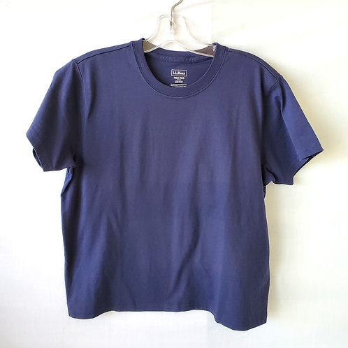 LL Bean Cotton Boxy Tee - M - Like New