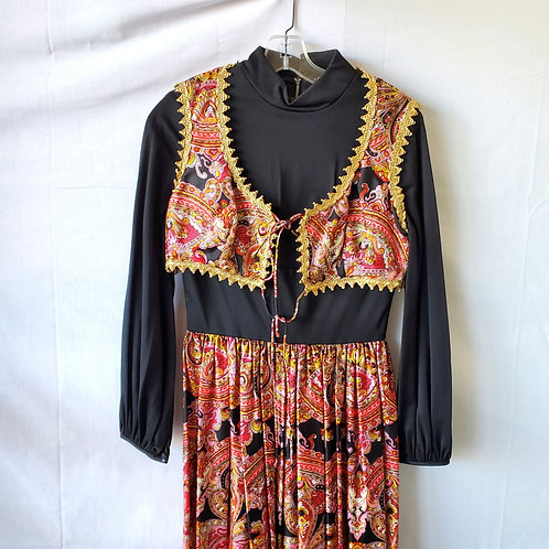 Vintage Two Piece Paisley Outfit - approx S
