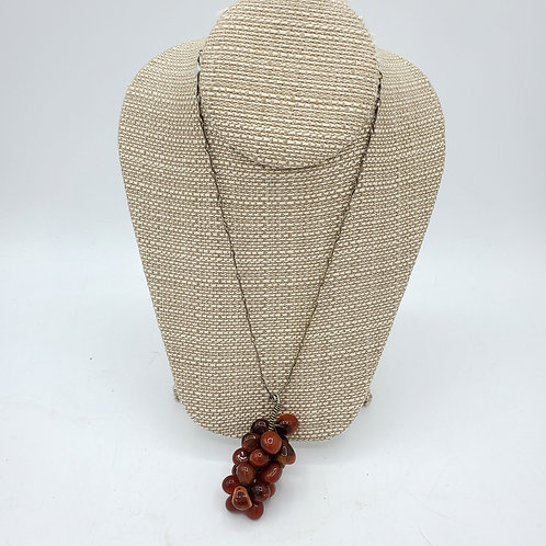 Vintage Chain & Glossy Stone Grape Cluster