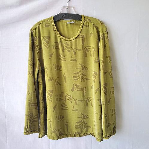 Click by Color Me Cotton Chartreuse Tencel Top - L