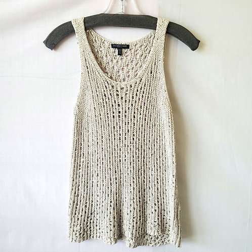 Eileen Fisher Crochet Tank with Sequins - M Petite