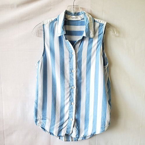 Workshop Striped Lyocell Top - S