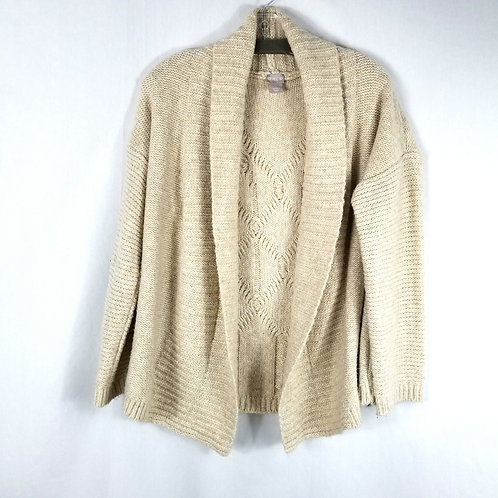 Chico's Oatmeal Open Cardigan - M