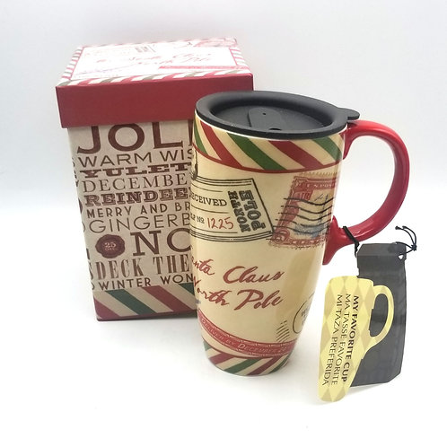 North Pole Travel Mug + Box - New