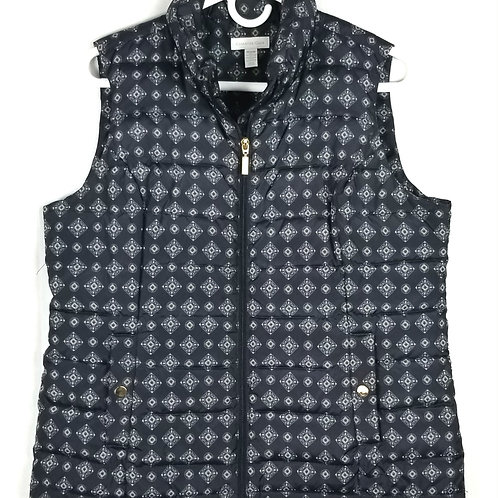 Charter Club Pattern Quilted Vest - M