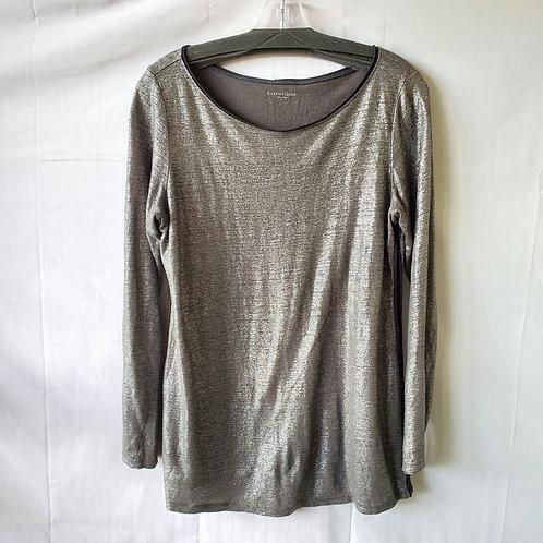 Eileen Fisher Organic Linen Metallic Top - S