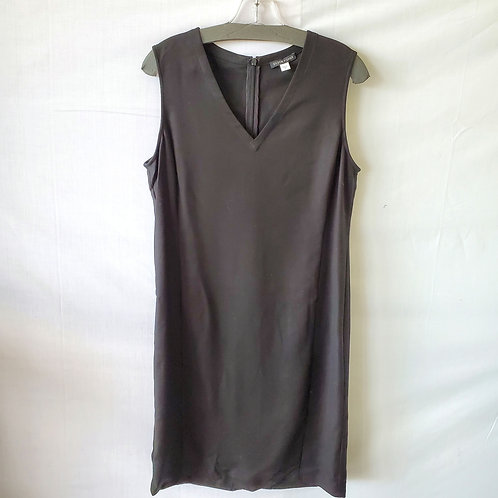 Eileen Fisher Black V-Neck Dress - S