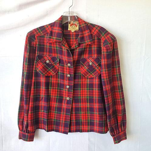 Vintage Lanz of Salzburg Plaid Shirt - approx S