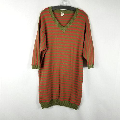 Vintage Cotton Sweater Dress - size S