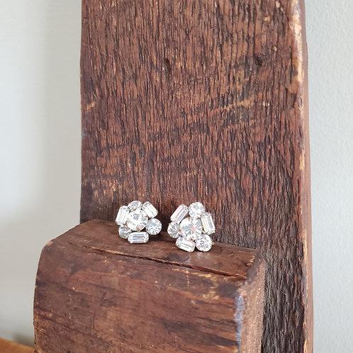 Vintage Rhinstone Sparkle Screwback Earrings