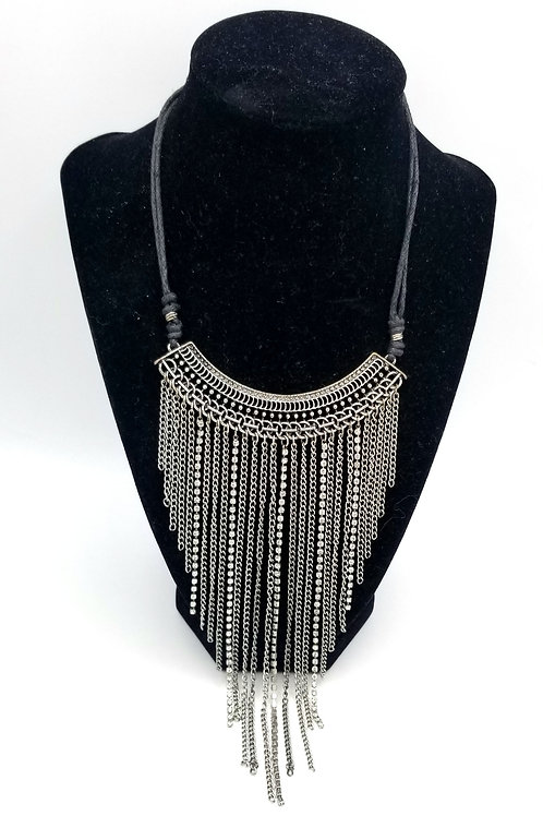 Chainmail & Rhinestone Collar Necklace