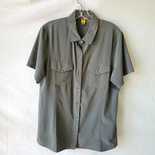 Eddie Bauer Hiking Button Up Shirt - L Tall