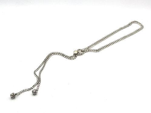 Rhinestone Lariat Style Necklace