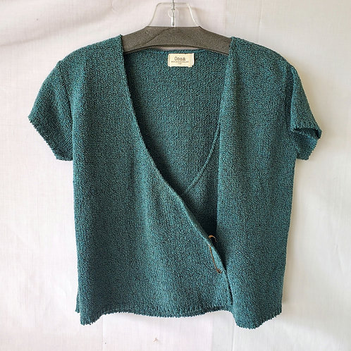 Oona Wrap Front Knit Top - S