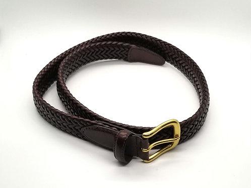 Dark Brown Braided Belt - size 34