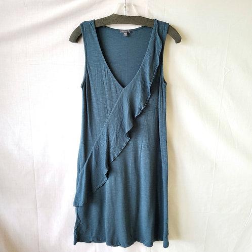 Lilla P Pima & Modal Dress with Ruffle - S