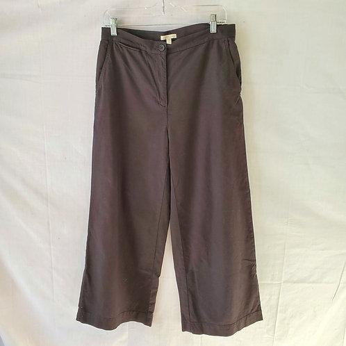Eileen Fisher Wide Leg Organic Cotton & Hemp Pants - size 8