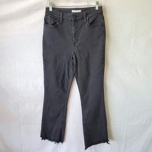Nine West Kick Flare Jeans with Distressed Hem - size 10