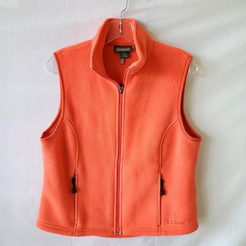 LL Bean Zip Up Fleece Vest - S