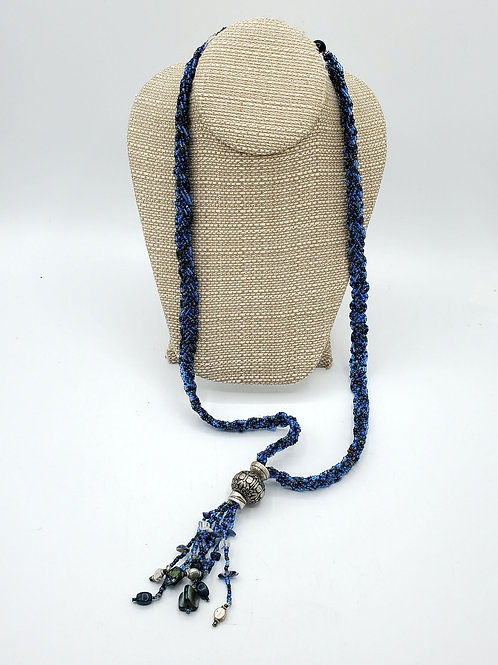Coldwater Creek Beaded Necklace with Tassle