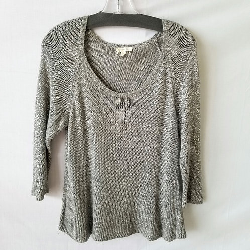 Eileen Fisher Gray Sweater with Shine - M