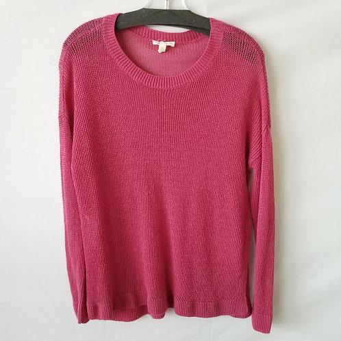 Eileen Fisher Organic Linen Raspberry Sweater - S - as is