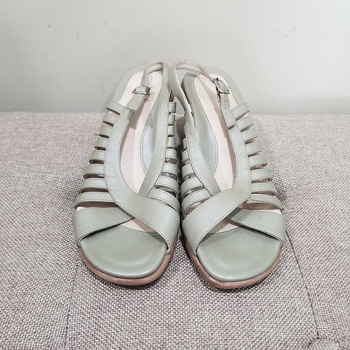 Dansko Mint Green Leather Sandals - size 37