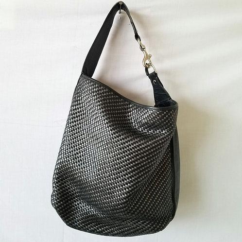 Coach Black & Metallic Bucket Bag - as is