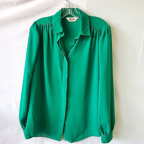 Vintage St. John Emerald Green Shirt - size 10