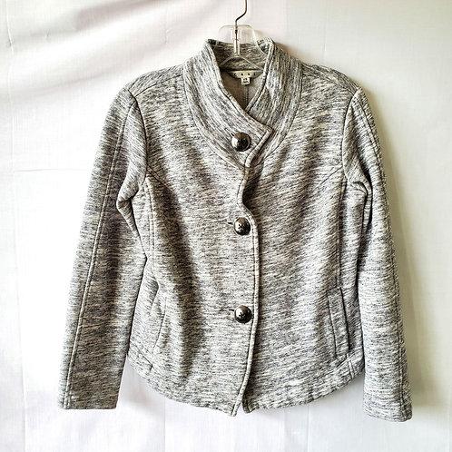 Cabi Heathered Gray Sweatshirt Short Jacket - XS
