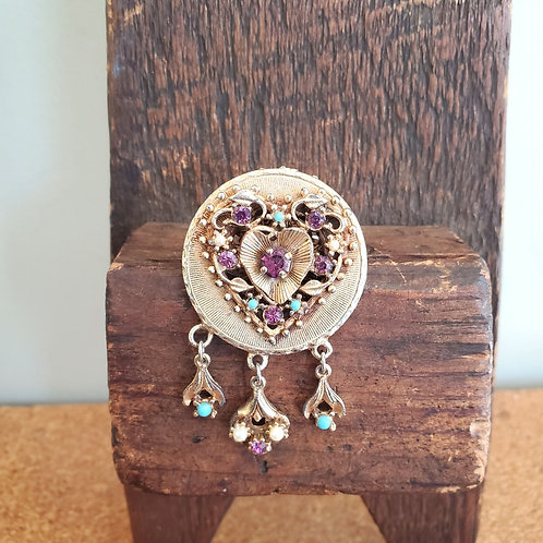 Vintage Brooch with Heart