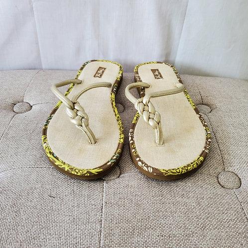 Vera Bradley Braided Flip Flops - approx size 7