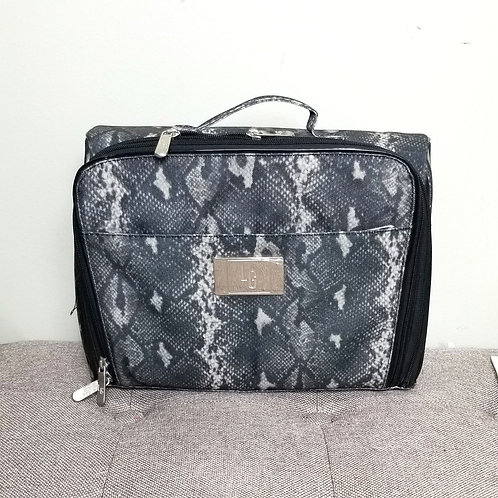 Faux Snakeskin Print Travel Case
