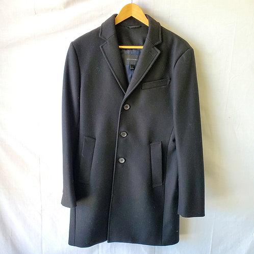 Banana Republic Black Wool Blend Overcoat - S
