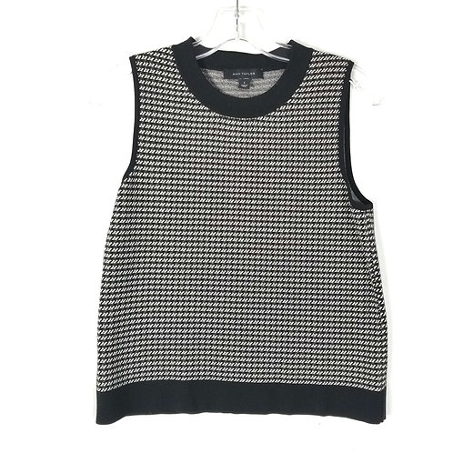 Ann Taylor MiniHoundstooth Top - S