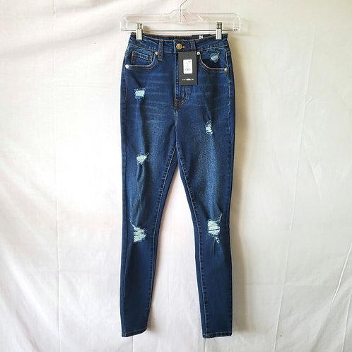 Fashion Nova Love My Curves Distressed Skinny Jeans - size 24 - New